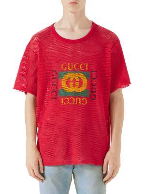Mesh Gucci Print Tee