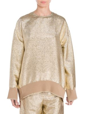 Metallic Lurex Sweatshirt