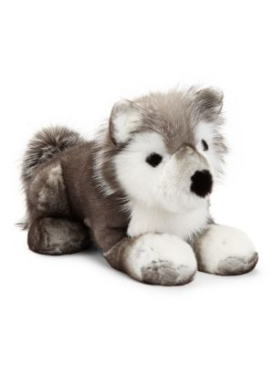 Mink & Fox Fur Husky Plush