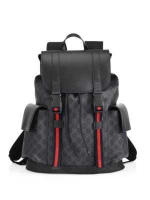Leather Logo Backpack
