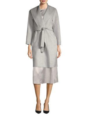 Shawl Collar Wool Coat
