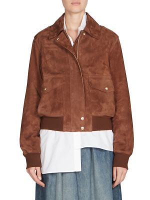 Suede Aviator Jacket
