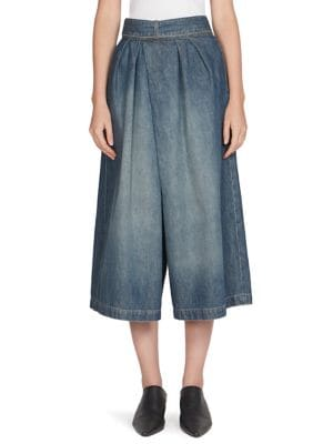 culotte denim trousers - Blue Loewe Best Place Sale Online Discount Huge Surprise Discount Order Countdown Package Cheap Price In China Sale Online eVK6VV3