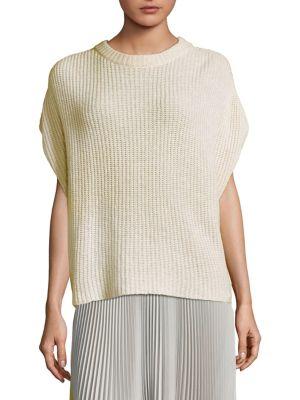 Cashmere Linen Poncho Top