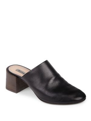 Slip-On Leather Mules