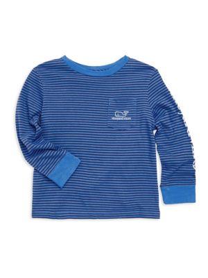 Toddler's, Little Boy's & Boy's Stripe Graphic Sweater