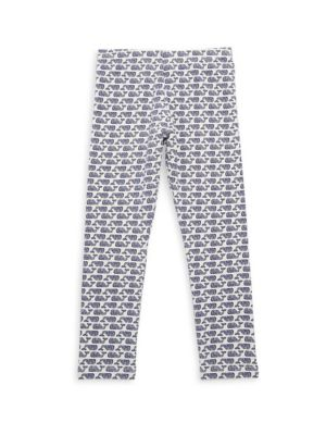 Toddler's, Little Girl's & Girl's Etched Whale Leggings