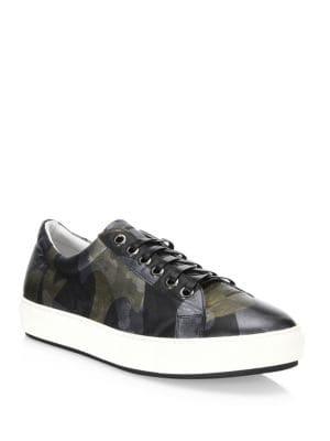 Leather Camouflage Sneakers