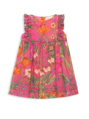 Baby Girl's Floral Ruffle Dress