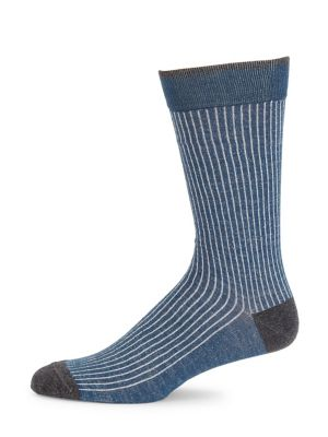 COLLECTION Cotton Ribbed Knit Socks