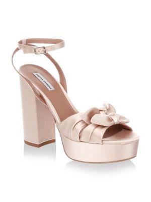 Knot Satin Platform Sandals
