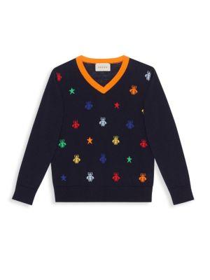 Little Boy's & Boy's Bee Print Sweater