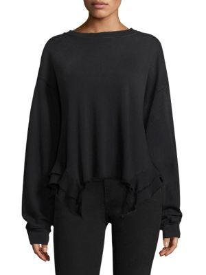 Slouchy Ruffle Sweatshirt