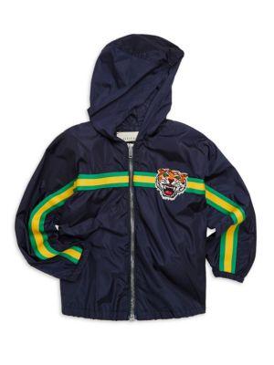 Little Boy's & Boy's Lion Zip-Front Jacket