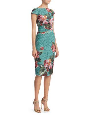 Foral Print Sheath Dress