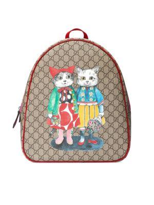 Girl's Logo Canvas Backpack