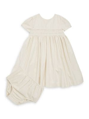 Baby's Two-Piece Cotton Shirt Dress and Bloomers Set