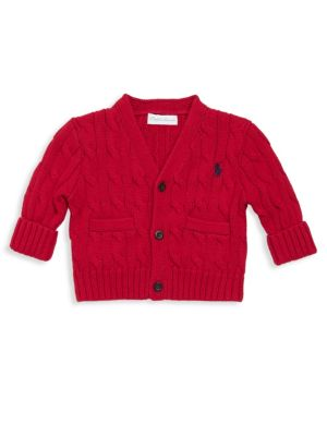 Baby's Cotton Cable Cardigan