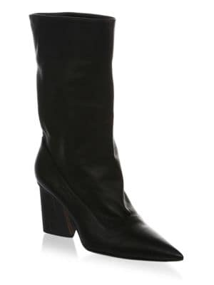 Judd Leather Slouchy Booties