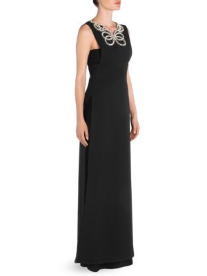Long Pearl Detail Gown