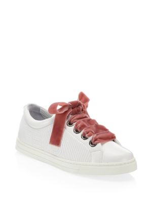 Stripy Leather Sneakers
