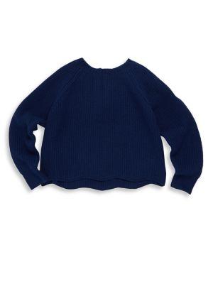 Girl's Scalloped Wool-Blend Sweater