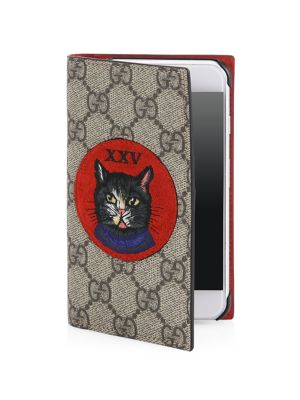 Embroidered Mystic Cat and XXV Suede Patch iPhone 7 Cover