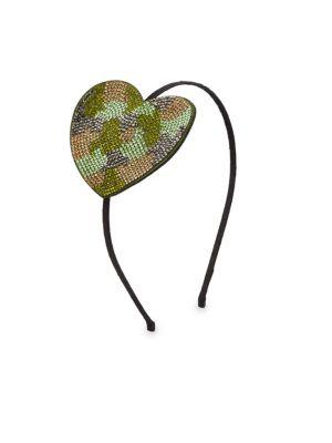 Camo Heart Crystal Headband