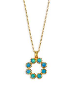 GURHAN Juju 24K Yellow Gold & Opal Pendant Necklace