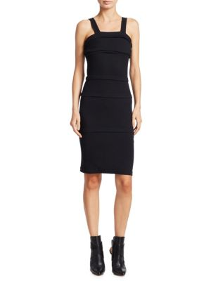 COTTON MULTI-LAYERED FITTED DRESS
