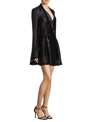 Shayne Silk Nylon Blazer Dress