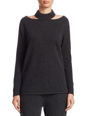 Cashmere Cutout Pullover
