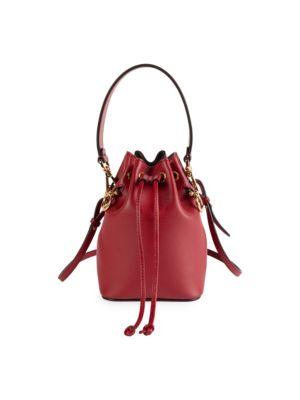 Mon Tresor Leather Bucket Bag