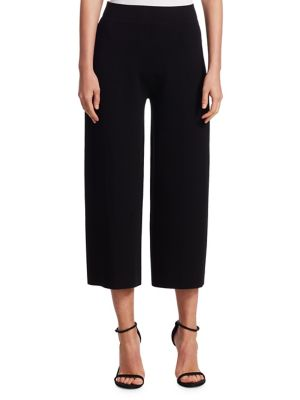 Double Knit Wide-Leg Pants