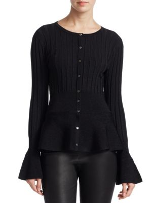 COLLECTION Peplum Cardigan