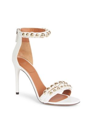 Givenchy Embellished Leather Ankle-Strap Sandals FNM2GEuiG