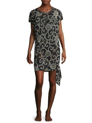 FUZZI SWIM Printed Short-Sleeve Coverup