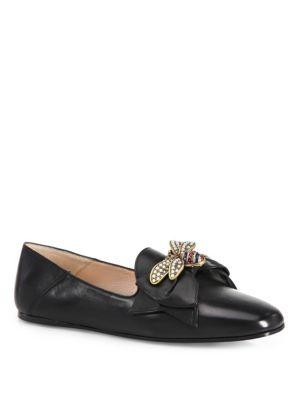 Queen Margaret Bee Leather Flats