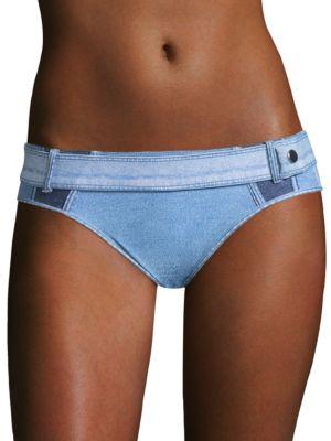 Denim Buckle Bikini Bottom