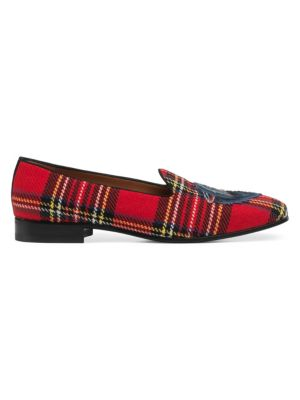 Gallipoli Red Tartan Loafers