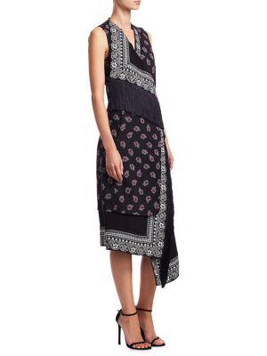 Bina Bandana Print Dress