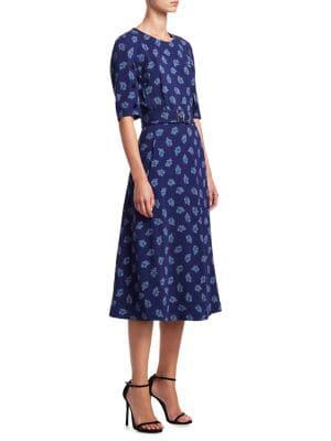 Elena Paisley Print A-Line Dress