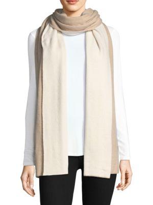 Color-Block Cashmere Blanket Scarf