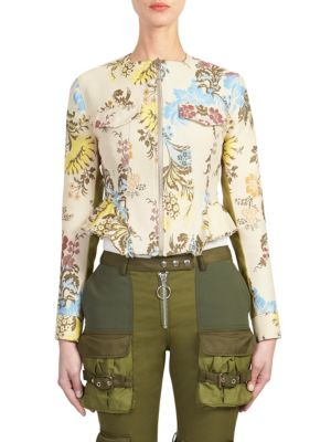 Floral Zip-Front Jacket