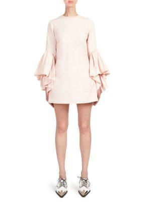 Bell-Sleeve Mini Dress