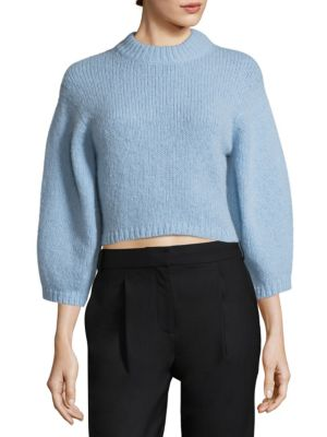 Cozette Wool Cropped Pullover