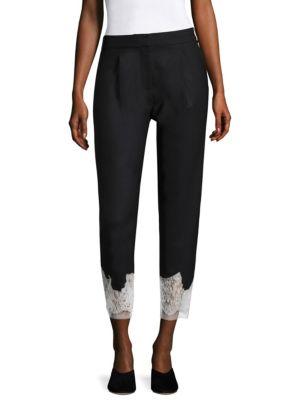 Black Multi Lou Lou Appliqué Trousers