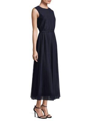 Pleated Charlotte A-Line Dress