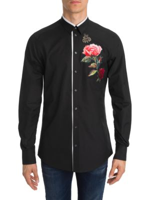 Rose Button-Down Shirt