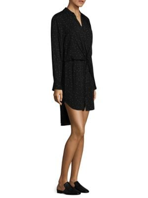 Lucas Twist-Front Shirtdress